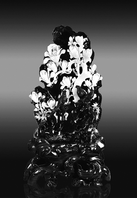 玉兰花玉雕图案