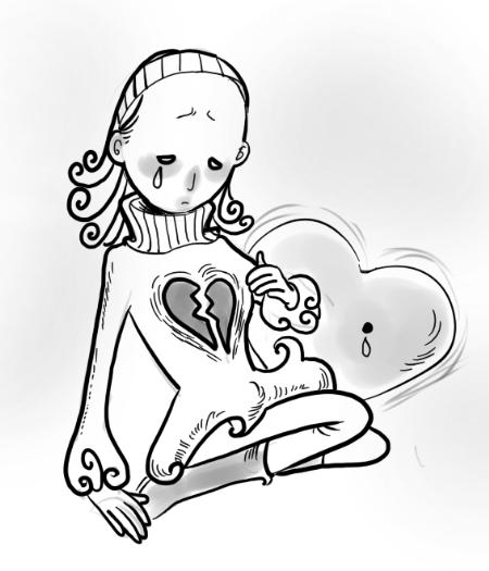 心脏不好创意手绘