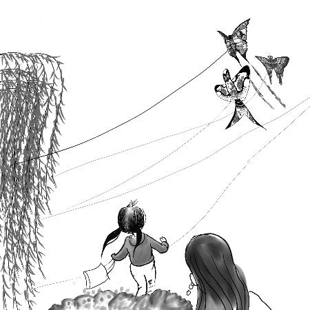 燕子风筝图片儿童画