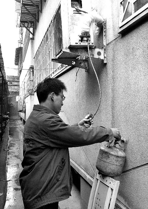 空调安装排气步骤图解