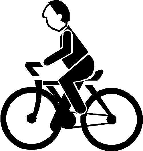 简笔画单车带人