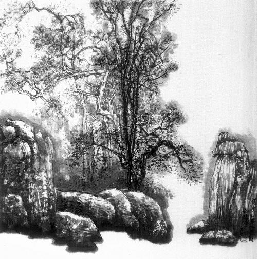 古代人的背影简笔画