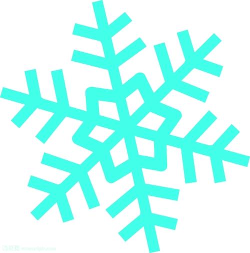 单个雪花透明素材