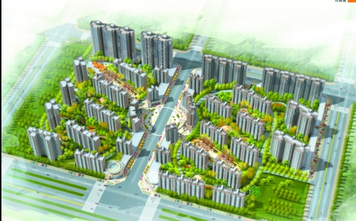 帝都国际城位于洛阳龙门大道与古城路交会处,背依隋唐植物园
