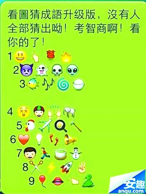 微信表情猜成语 br/>你能猜出几个?