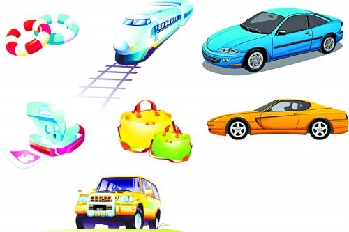 车辆检测矢量图