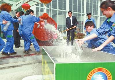 宜阳就着手填高厂房地址;青岛啤酒集团提出需要检测水样,宜阳县立即从