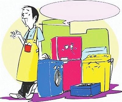 洗衣机也会积累污垢,在外体内侧