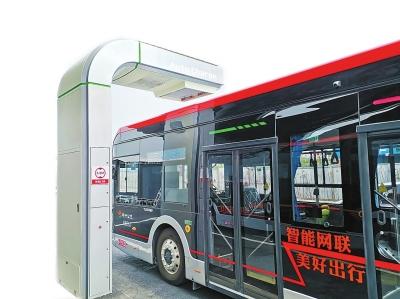 6月20日上午郑东新区自动驾驶公交正式试运
