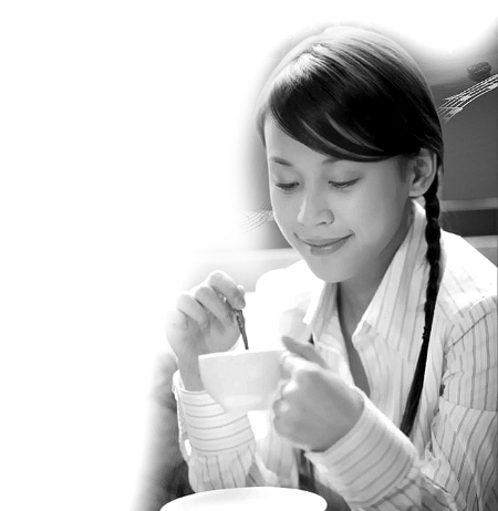 年轻人休闲喝咖啡背景 素材