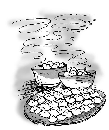 区域包饺子捏的步骤图片