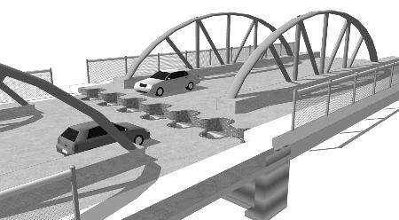 拱形结构纸桥设计简图