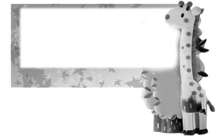 霸气黑白色边框素材