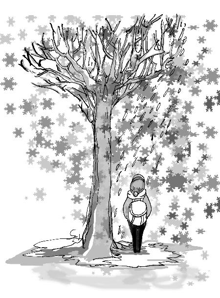 冬天手绘画图片