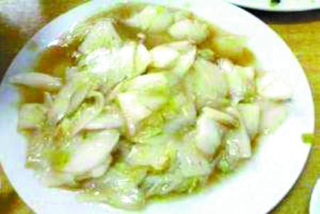 核心提示   醋熘白菜是常见的下酒菜,做法很简单,看起来谁...