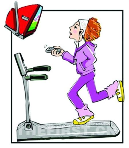 跑步减肥矢量图