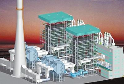 火力发电厂室内三维图