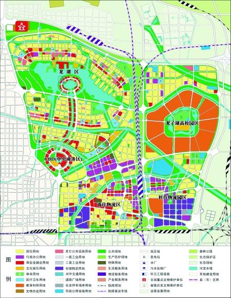 郑东新区规划图-提高站位倾力打造郑州龙湖金融中心