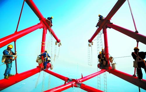 特高压输电 br/>世界最高跨越塔封顶