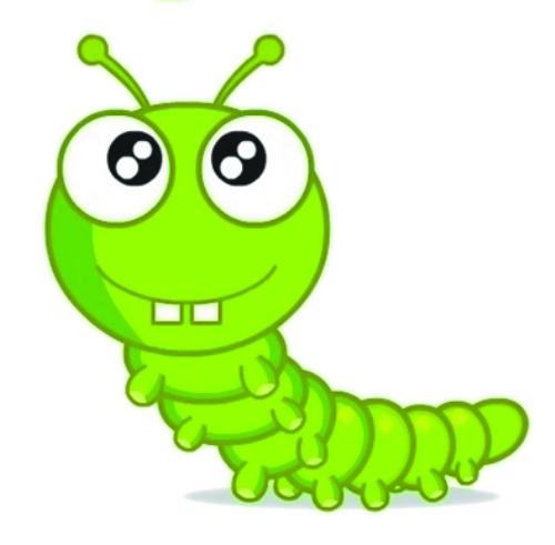 可爱的虫子卡通图片