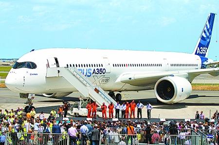 空客首架a350宽体飞机完成首飞