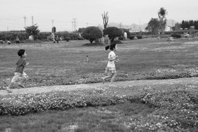 中工网 人物频道 政坛人物 -正文  孩子们在王国芳筹资建成的植物园里
