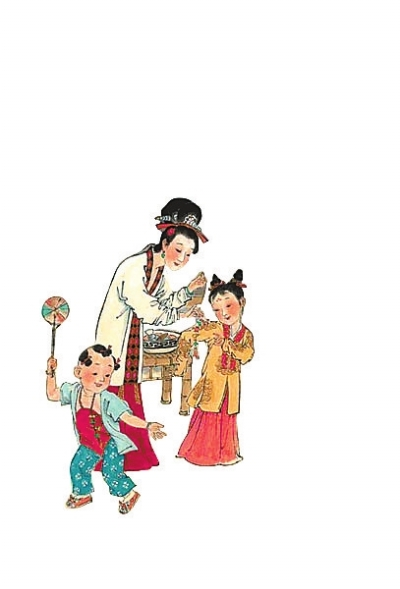 彩线编织粽子编法图解