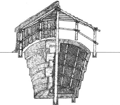 古代粮仓结构图