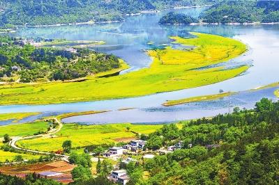 商城灌河水清河美,风景如画本报资料图片