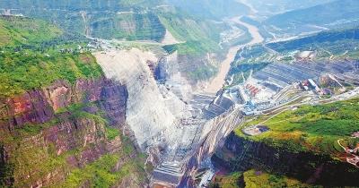 全球在建最大水电站白鹤滩主体工程全面展开图片