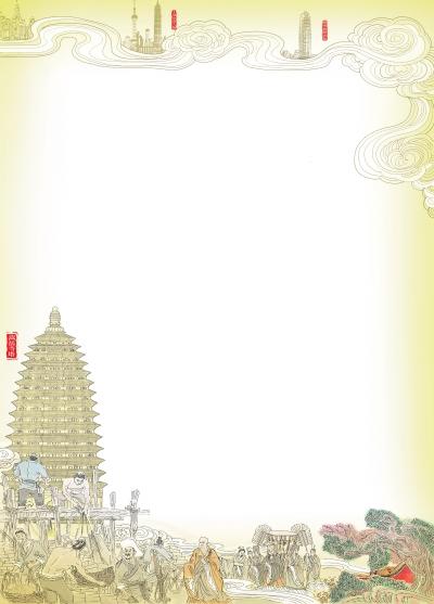 画出古代佛塔任意类型三种