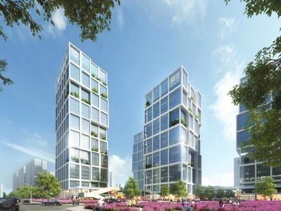 中原总部基地项目的设计定位立足中原经济的新起点,顺应城市建设