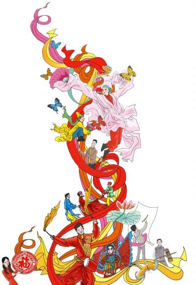 """朱仙镇木版年画中的门神,老灶爷,财神,十二生肖等,一直被视为"""""""