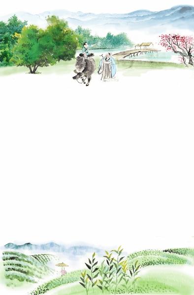 植树节高中生绘画作品