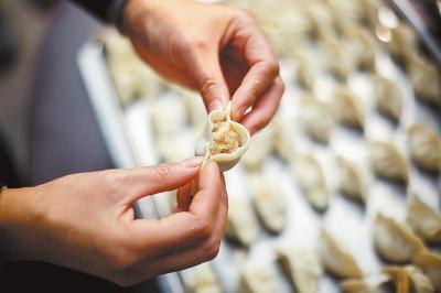 手绘饺子简单图画