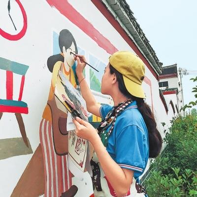 """小王营村来了群""""艺术家"""""""