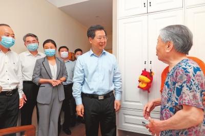 楼阳生在郑州市调研社区居家养老工作时强调 加快构建养老服务体系 提高老年人品质生活获得感满意度