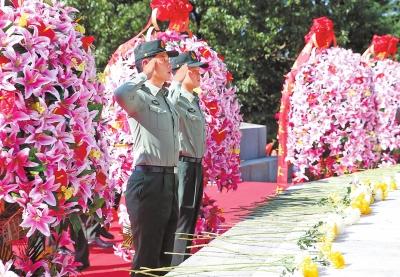 我省各地举行烈士纪念日公祭活动
