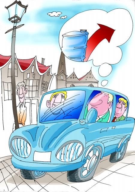 汽车排放废气动漫