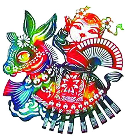 苗族舞蹈剪纸画画