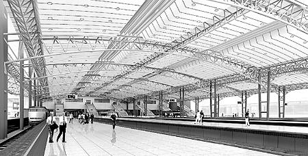 郑州火车站台换风雨棚