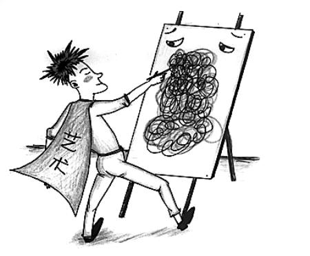 美发店手绘线稿分享展示