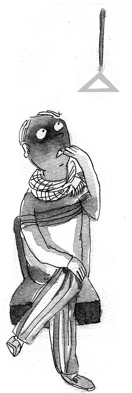 一个人旅行 手绘图