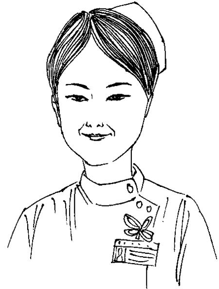 护士简笔画-我的大年这样过