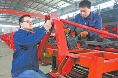 正阳县花生机械产业园产销两旺