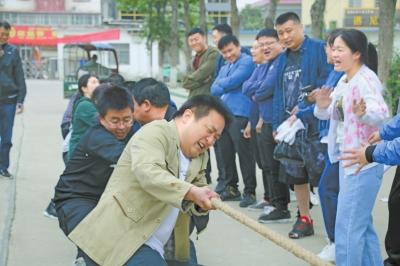 镇平农商银行举办春季职工趣味运动会