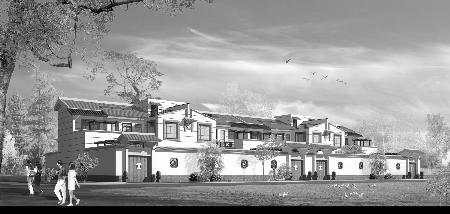 小康型新农村住宅效果图 (新农村经典户型设计)空中庭院藏风聚气