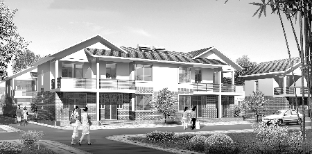 住宅设计图-新农村盖房子图纸   农村住宅效果图-西安新盖