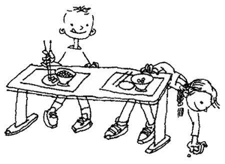 幼儿园卡通水龙头简笔画
