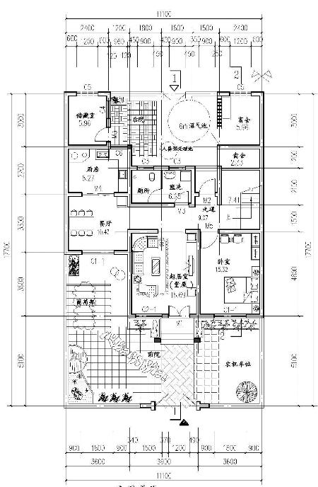 简单的建筑总平面图
